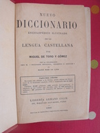 Nuevo Diccionario De La  Lengua Castellana. Miguel De Toro Y Gomez. Armand Colin 1926. Castillan Espagnol-français - Woordenboeken,encyclopedieën