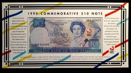 NEW ZEALAND 10 DOLLARS 1990 COMMEMORATIVE NOTE QUEEN ELIZABETH II LEGAL TENDER - New Zealand