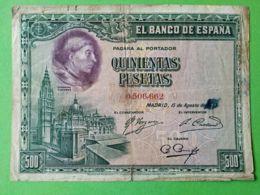 500 Pesetas 1923 - [ 1] …-1931 : Prime Banconote (Banco De España)