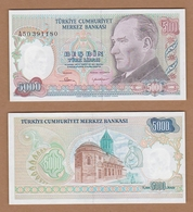 AC  - TURKEY- 7th EMISSION 5 000 TL A UNCIRCULATED RARE - Turchia