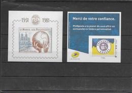 Lot 2 Feuillets Souvenir Monde Phil. Et Passion Abonné De La Poste Neufs Xx - Blokken En Velletjes