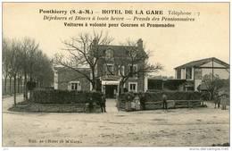 77-PONTHIERRY-(Hotel De La Gare) - Francia