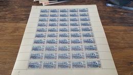 LOT 417352 TIMBRE DE FRANCE NEUF** FEUILLE N°490 VALEUR 25 EUROS BLOC - Feuilles Complètes