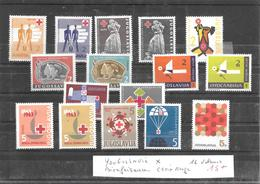 YOUGOSLAVIE * 16 VALEURS CROIX ROUGE BIENFAISANCE - Yugoslavia