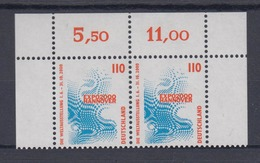 Bund 2009 SWK (XXII) 110 Pf Waagerechtes Paar Eckrand Postfrisch - BRD