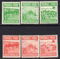 Australia 1953 Food Production Set Of 6, MNH, SG 255/60 - Neufs