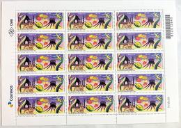 BRAZIL Sheet 15 Stamps Diplomatic Relations India Church Tiger Bird 2018 - Brasil