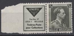Belgique. 1938-39. COB N° PU 106 **, MNH, Neuf Mais Compté Comme *, MH. Cote COB 2018 : 8 € - Werbung