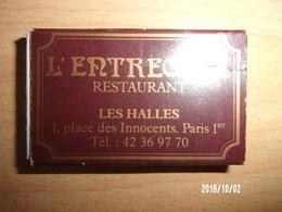 Boite D'allumettes Vide - L'entrecôte Les Halles - Boites D'allumettes