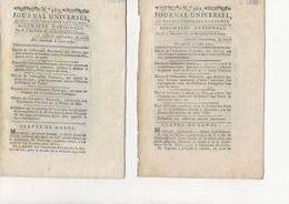 JOURNAL UNIVERSEL - N° 556- 558-562-563-564- JUIN 1791  TB - Décrets & Lois