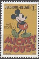 Belgique 2008 COB 3784 Neuf ** Cote (2016) 1.70 Euro 80 Ans De Mickey Mouse - België