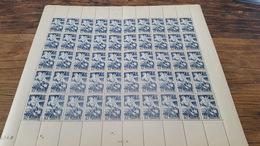 LOT 417378 TIMBRE DE FRANCE NEUF** FEUILLE N°669 VALEUR 25 EUROS BLOC - Feuilles Complètes