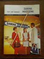 Maandblad    1971  SABENA - Vluchtmagazines
