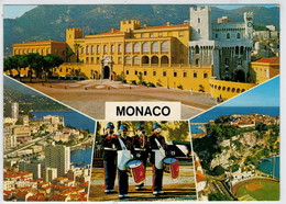 PRINCIPAUTE'  DE  MONACO   LE  PALAIS   LE  RELEVE DE LA GARDE    2  SCAN     (NUOVA) - Monaco