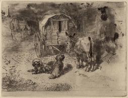 1902 - Eau-forte - Félix Buhot (Valognes1847 - Paris 1898) - Les Gardiens Du Logis - FRANCO DE PORT - Prints & Engravings