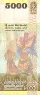 SRI LANKA P. 128b 5000 R 2015 UNC - Sri Lanka