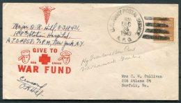 1943 Greenland US Army Postal Sevice APO 858 Patriotic Cover - Norfolk Virgina USA - Brieven En Documenten