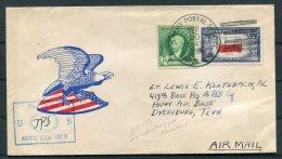 1943 Greenland US Army Postal Sevice APO 859 Patriotic Eagle Censor Cover -  Army Air Base, Dyersburg, Tenn. USA - Greenland