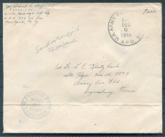 1944 Greenland US Army Postal Sevice APO 859 Censor Cover -  Army Air Base, Dyersburg, Tenn. USA - Greenland