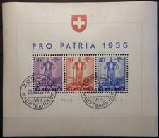 Suisse  Bloc PRO PATRIA 1936 - Bloques & Hojas