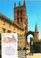 30072. Tarjeta Maxima MONTPELLIER 1985. Fragmento Sobre Postal - Cartas Máxima