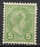LUXEMBOURG      -     1895 .    Y&T N° 72 * - 1895 Adolphe Right-hand Side