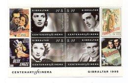 Gibilterra - 1995 - Centenario Del Cinema - 4 Valori - Nuovi - Vedi Foto - (FDC12253) - Gibilterra