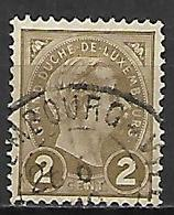 LUXEMBOURG      -     1895 .    Y&T N° 70 Oblitéré - 1895 Adolphe Right-hand Side