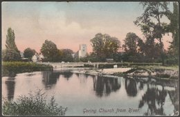 Goring Church From River, Oxfordshire, 1906 - Frith's Postcard - England