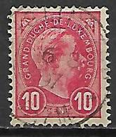 LUXEMBOURG      -     1895 .    Y&T N° 73 Oblitéré - 1895 Adolphe Right-hand Side