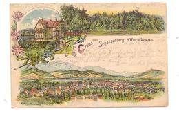 NIEDERSCHLESIEN - HIRSCHBERG-WARMBRUNN / JELENA GORA, Gruss Vom Scholzenberg, Litho 1898 - Schlesien