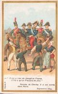 """Image Publicitaire Chocolat Morin """" Paroles De Charles X à Son Entrée Dans Paris """" 1824 - Other Collections"""