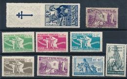 CF-199: FRANCE: Lot FRANCE LIBRE 1943 N°1/5*-5 Obl- 6**-7*-PA1* - Guerres