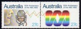 Australia 1982 50th Anniversary Of ABC Se-tenant Pair, MNH, SG 847/8 - 1980-89 Elizabeth II