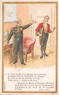 """Image Publicitaire Chocolat Morin """" Réponse Du Baron D'Haussez à Lord Stuart """" 1830 - Other Collections"""