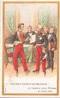"Image Publicitaire Chocolat Morin "" La Fayette à Louis Philippe "" 1830 - Other Collections"