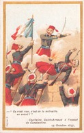 """Image Publicitaire Chocolat Morin """" Capitaine Saint-Arnaud à L'assaut De Constantine """" 1837 - Other Collections"""