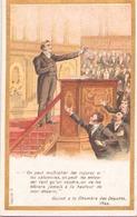 """Image Publicitaire Chocolat Morin """" Guizot  à La Chambre Des Députés """" 1844 - Other Collections"""