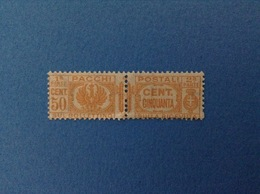 1927 REGNO D'ITALIA FRANCOBOLLO NUOVO STAMP NEW MNH** 50 CENT PACCHI POSTALI - 1900-44 Victor Emmanuel III