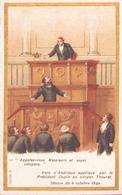 """Image Publicitaire Chocolat Morin """" Vers D'Andrieux Appliqué Par Le Président Dupin Au Citoyen Thouret """" 1849 - Other Collections"""