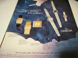 ANCIENNE PUBLICITE  MONTRE OMEGA CONSTELLATION 1969 - Jewels & Clocks