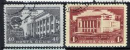 Russia 1950 Unif. 1521/22 Usati/Used VF - 1923-1991 URSS