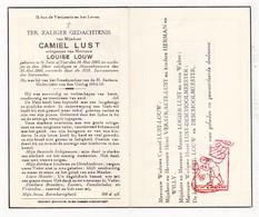 DP Camiel Lust ° Sint-Joris Ad IJzer Nieuwpoort 1885 † Mannekensvere Middelkerke 1945 X Louise Louw / Verstraete Logier - Images Religieuses