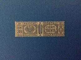 1927 REGNO D'ITALIA FRANCOBOLLO NUOVO STAMP NEW MNH** 30 CENT PACCHI POSTALI - 1900-44 Victor Emmanuel III
