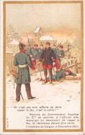 """Image Publicitaire Chocolat Morin """" Réponse Du Commandant Fouchier ... """" 1870 - Other Collections"""
