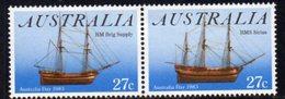 Australia 1983 Australia Day Ships Se-tenant Pair, MNH, SG 879/80 - 1980-89 Elizabeth II