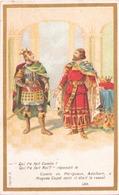 """Image Publicitaire Chocolat Morin """" Comte De Périgueux, Adalbert, à Hugues Capet """" 988 - Other Collections"""