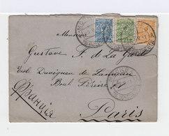 Sur Enveloppe Trois Timbres Empire Russe Armoiries 7k. Bleu, 1k. Orange, 2k. Vert. CAD Mockba 1911. (703) - Marcophilie - EMA (Empreintes Machines)