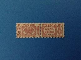 1927 REGNO D'ITALIA FRANCOBOLLO NUOVO STAMP NEW MNH** 25 CENT PACCHI POSTALI - Pacchi Postali
