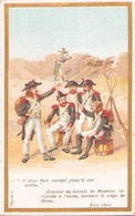 """Image Publicitaire Chocolat Morin """" Les Soldats De Masséna Pendant Le Siège De Gênes """" 1800 - Other Collections"""